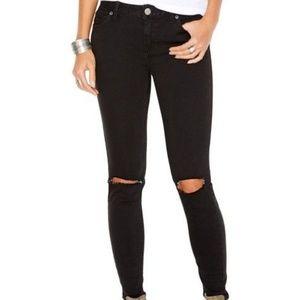 Free People Distressed Knee Skinny Jeans Size 26